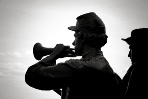 bugle, soldiers