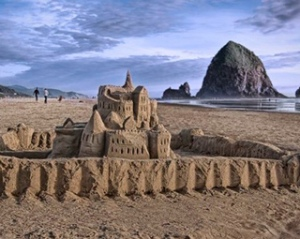Cannon Beach sandcastle